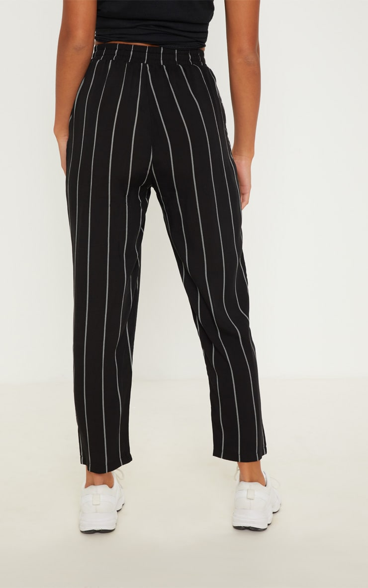 Petite Monochrome Stripe Casual Trousers 4