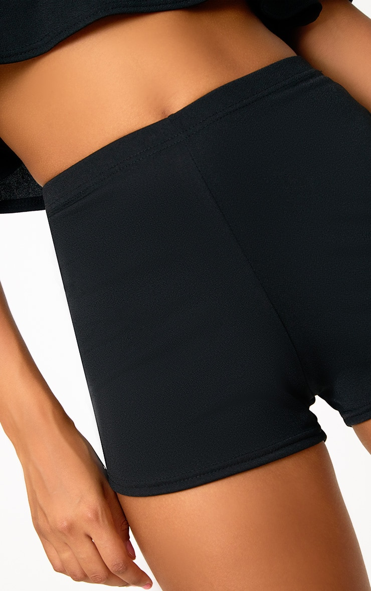 Black High Waisted Co-ord Shorts 6