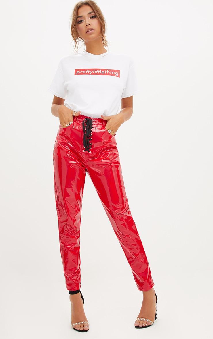 T-shirt surdimensionné blanc slogan PRETTYLITTLETHING  5