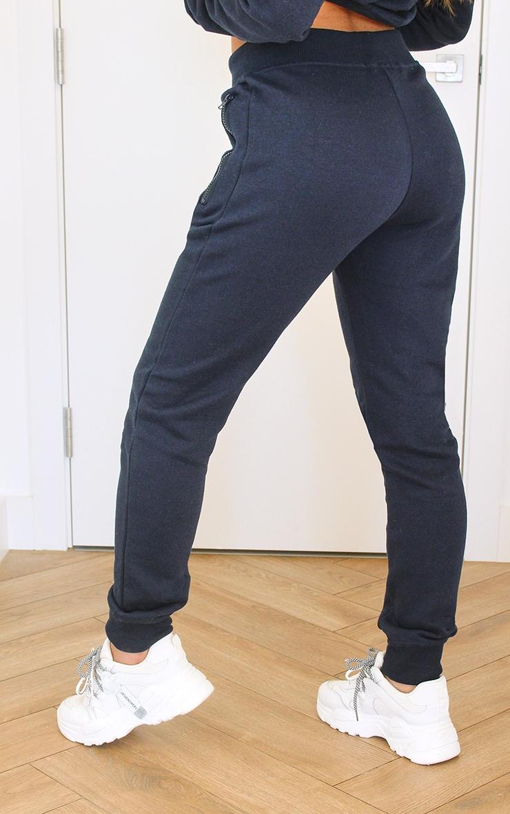 Black Zip Pocket Skinny Joggers 3