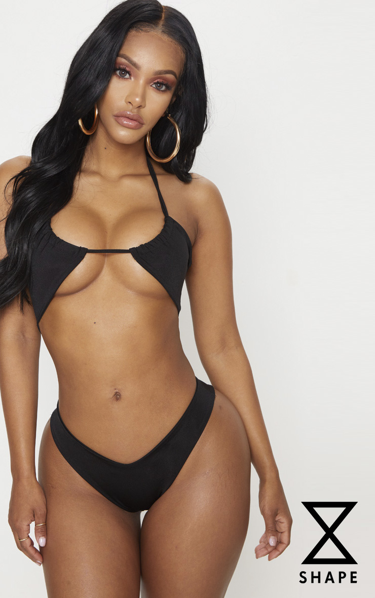 Shape Black Tiny Bikini Bottom