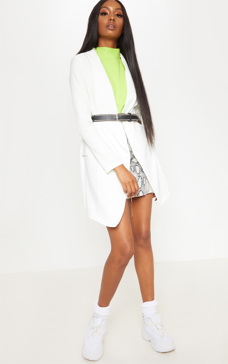 Neon Lime Oversized Roll Neck Top 4
