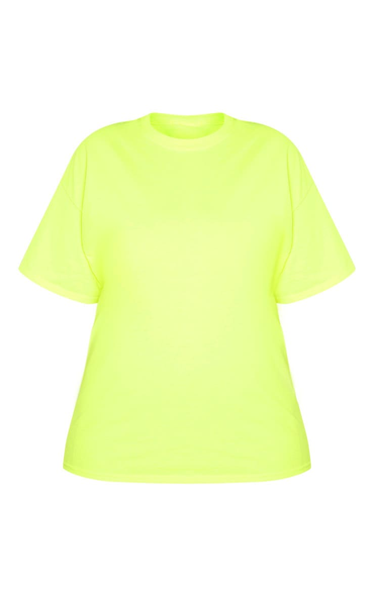 Plus Neon Lime Oversized T Shirt 3
