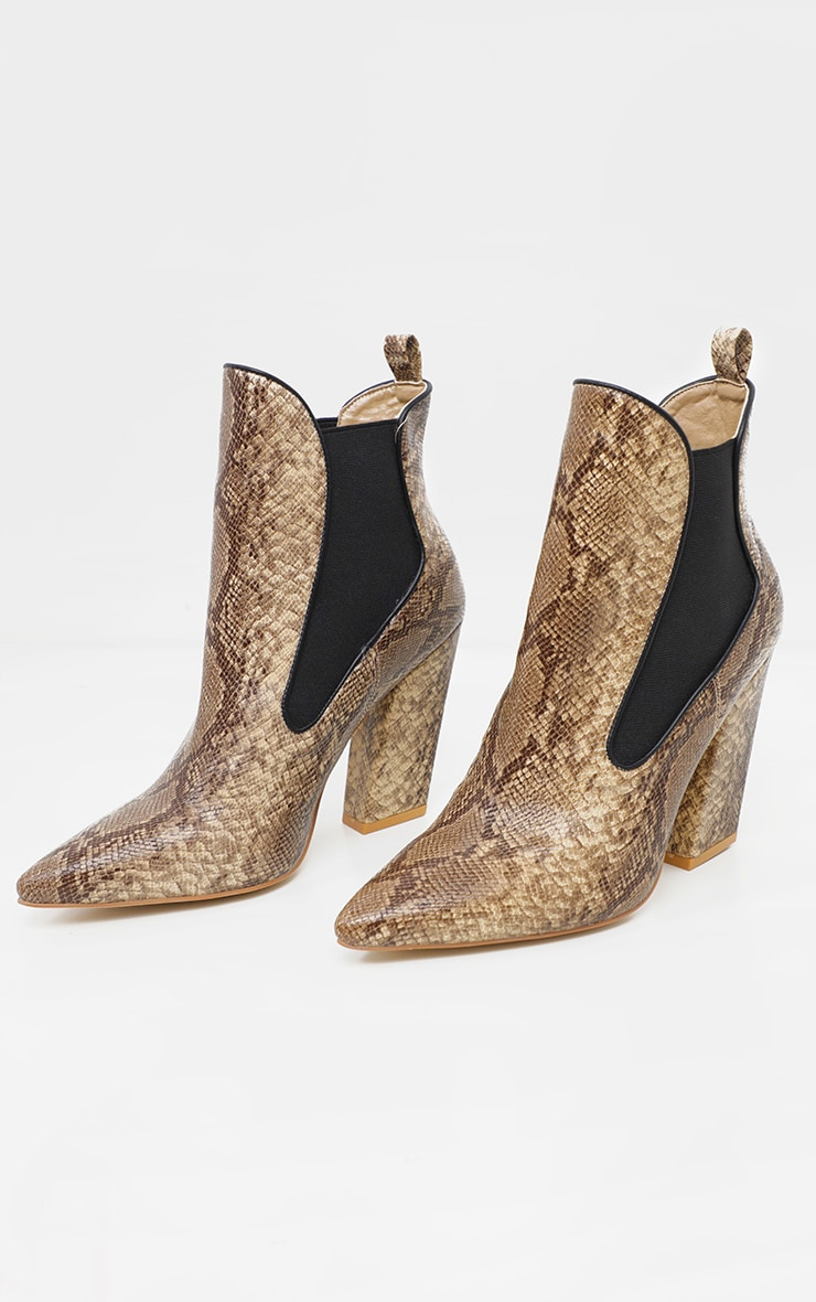 Snake Western Chelsea Ankle Boot 3