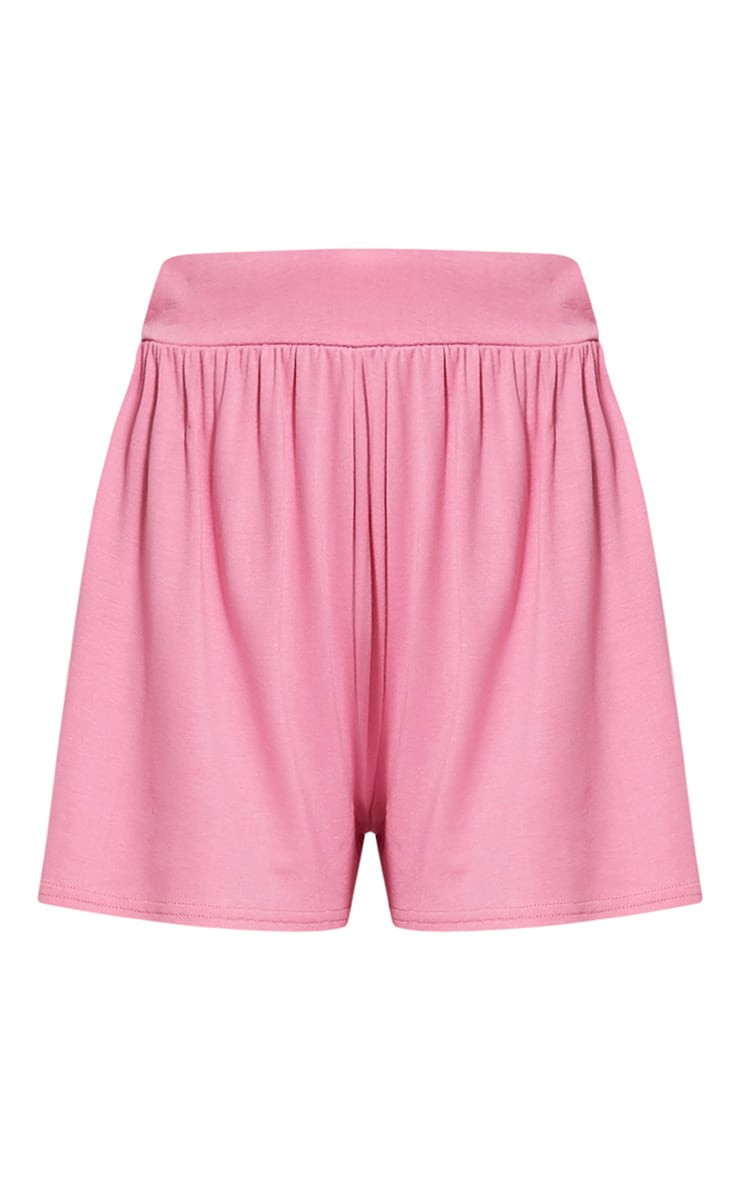Lucilla Bubblegum Pink Jersey Floaty Shorts 3