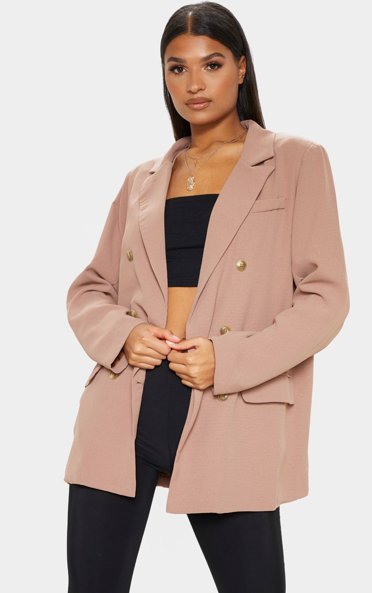 Camel Shoulder Padded Blazer 1