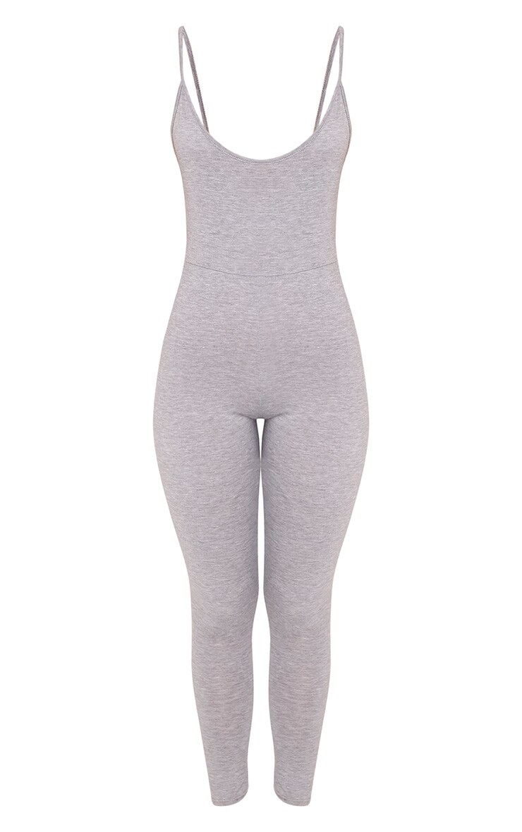 Khlara Grey Jersey Low Back Jumpsuit 3