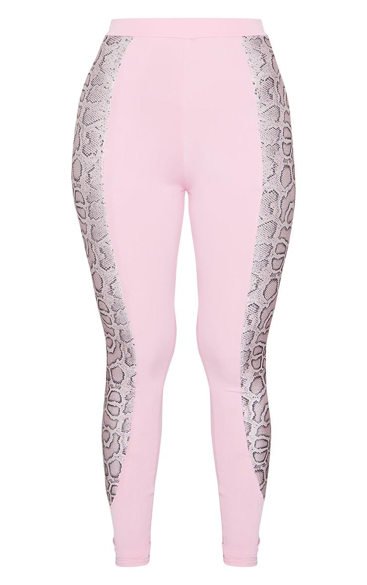 Pink Snake Panel High Waist Gym Leggings 5