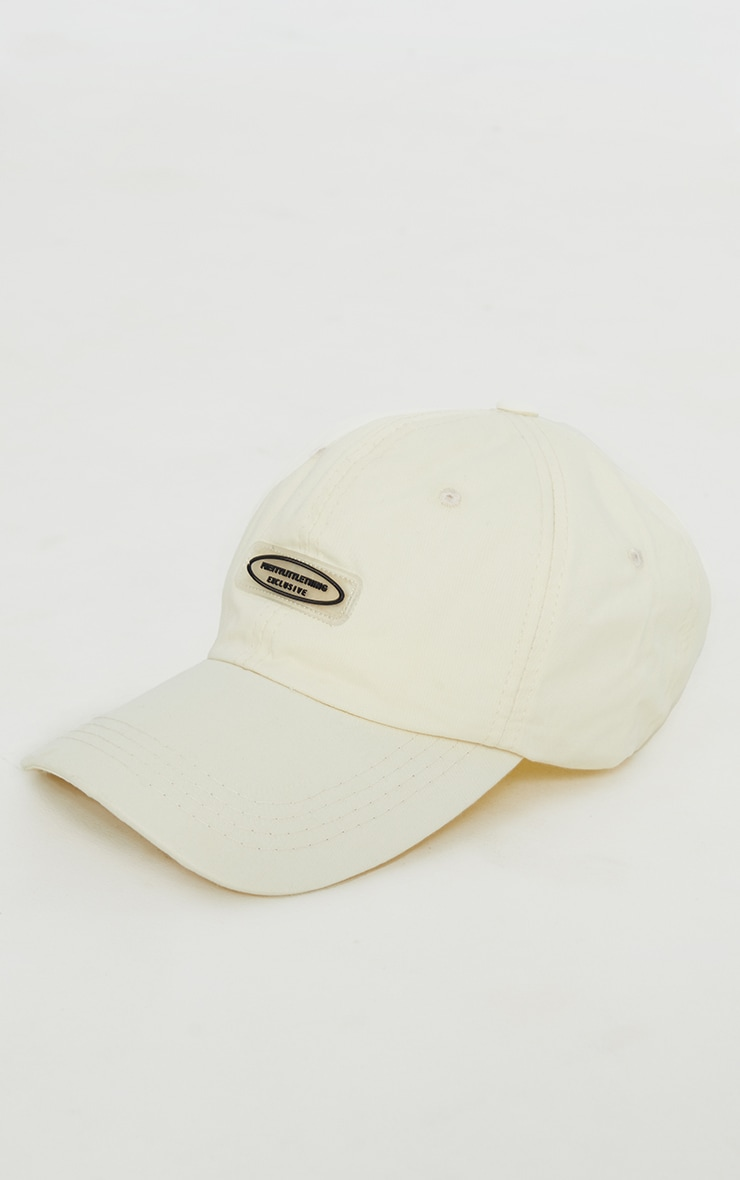 PRETTYLITTLETHING Exclusive Cream Baseball Cap 3
