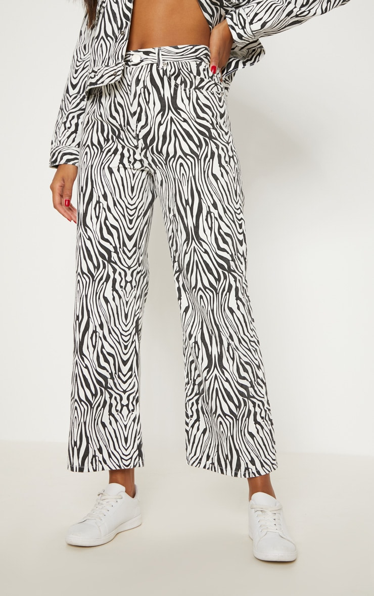 Zebra Wide Leg Utility Cropped Jeans 2