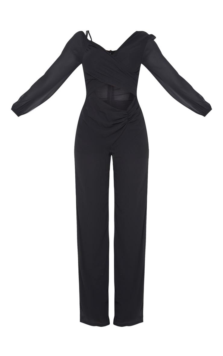 Black Chiffon Cut Out Jumpsuit 3