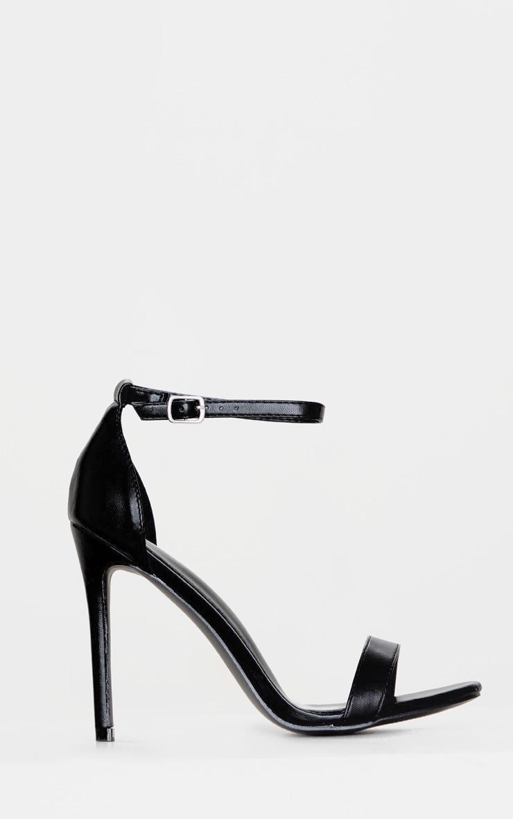 Sandales à talons noires 3