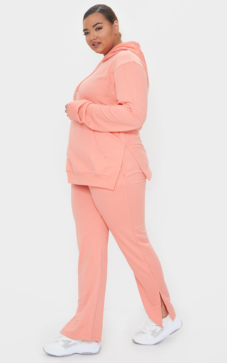 Plus Peach Split Detail Hoodie 3
