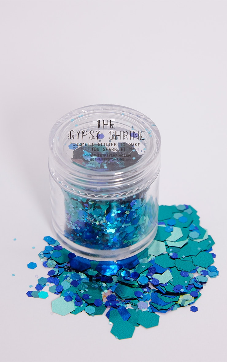 The Gypsy Shrine Turquoise Mermaid Glitter Pot 1