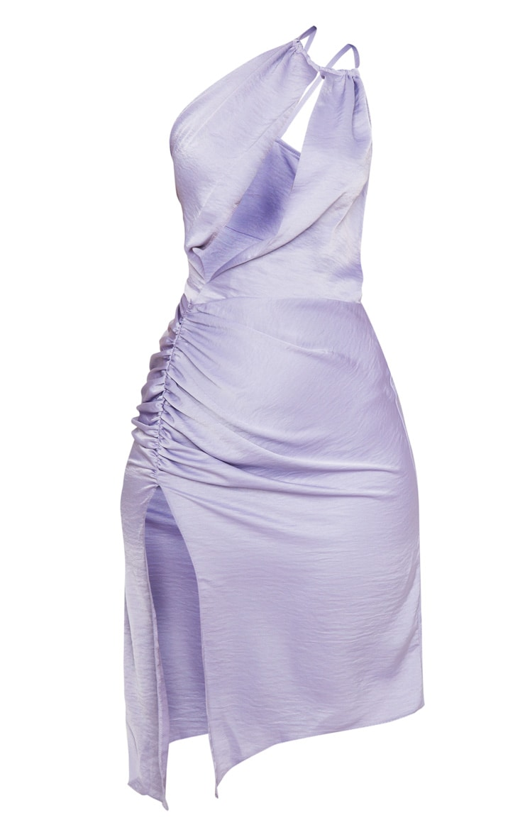 Lilac One Shoulder Double Strap Midi Dress 5