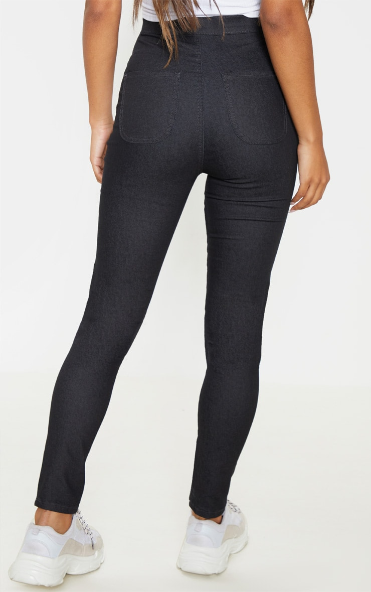 Washed Black Denim Jegging 4