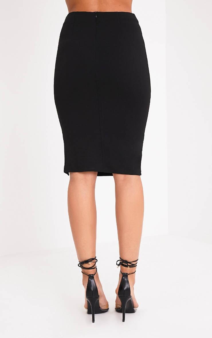 Rosella Black Pin Detail Midi Skirt 5