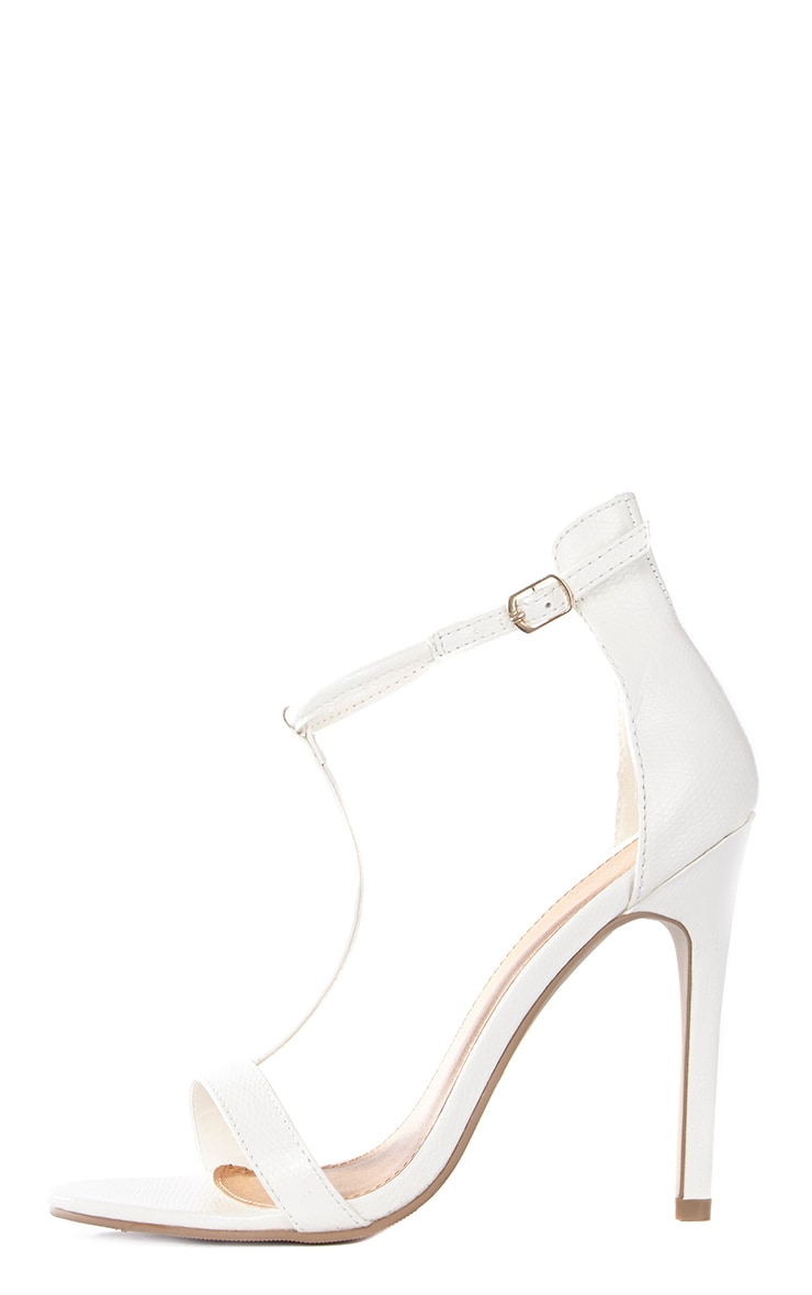 Jordan Cream Strappy T Bar Heeled Sandal 1