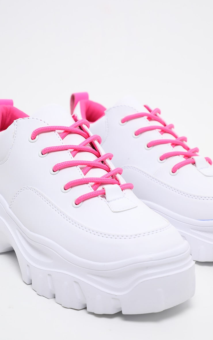 Neon Pink Chunky Cleated Sole Trainer 3