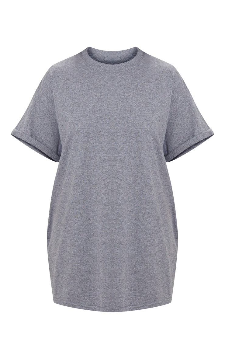 Charcoal Oversized Roll Sleeve Ultimate T Shirt 3