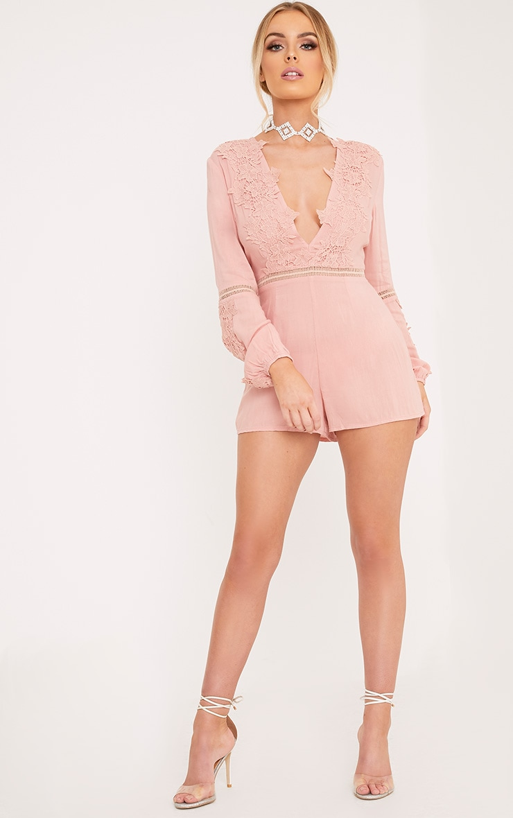 Lauren Pink Cheesecloth Playsuit 4