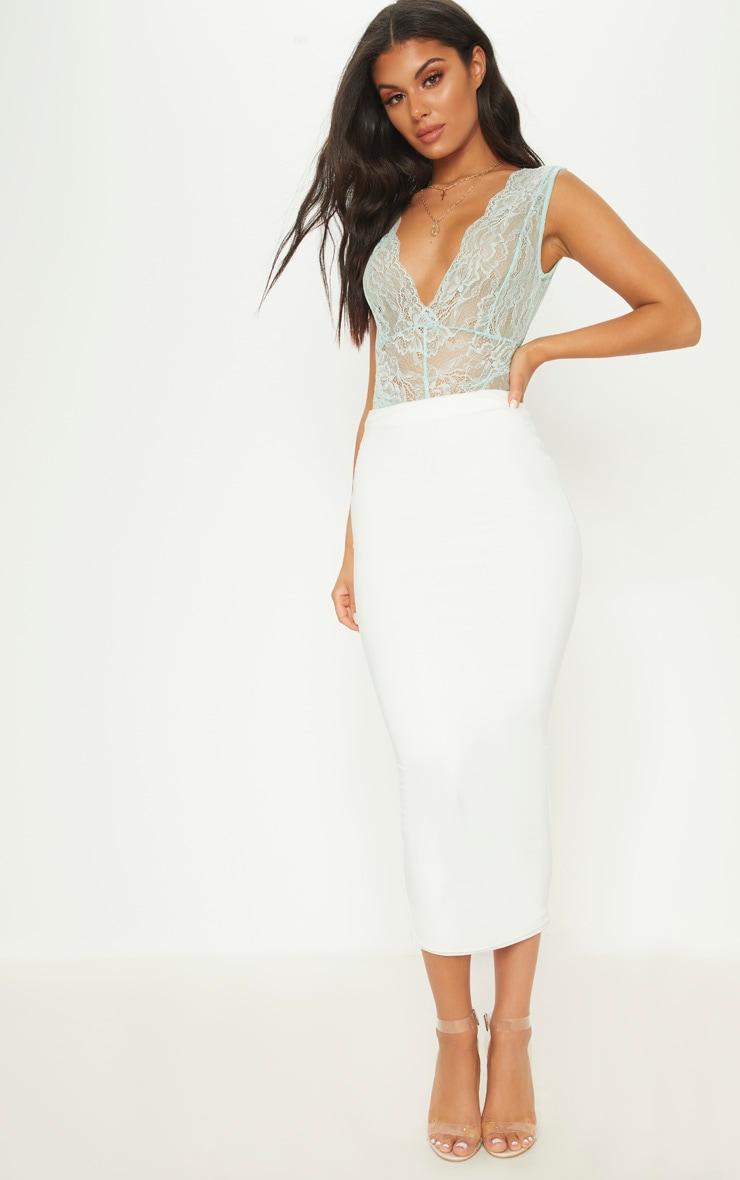 Mint Lace Bodysuit 5