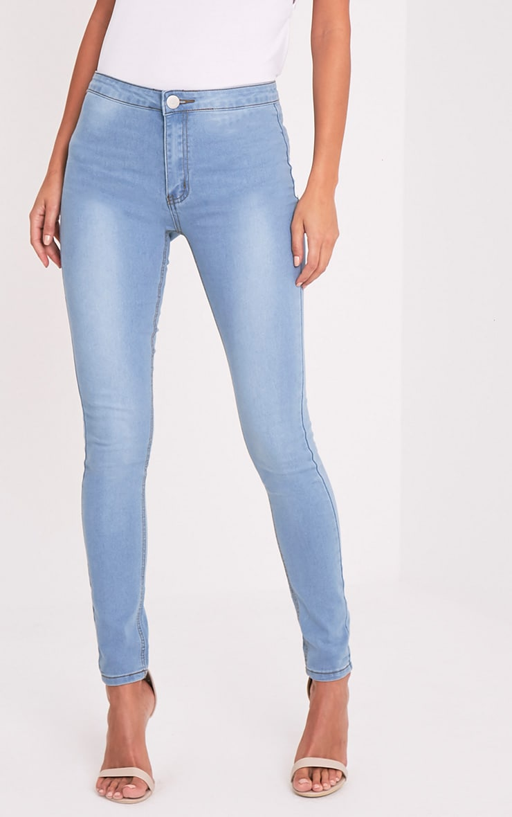Light Wash High Waisted Skinny Jean 2