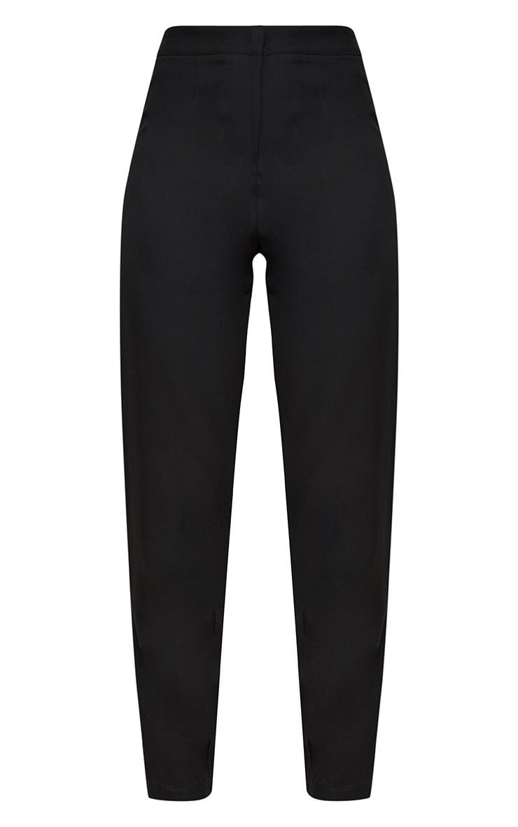 Black Straight Leg Tailored Trousers 3