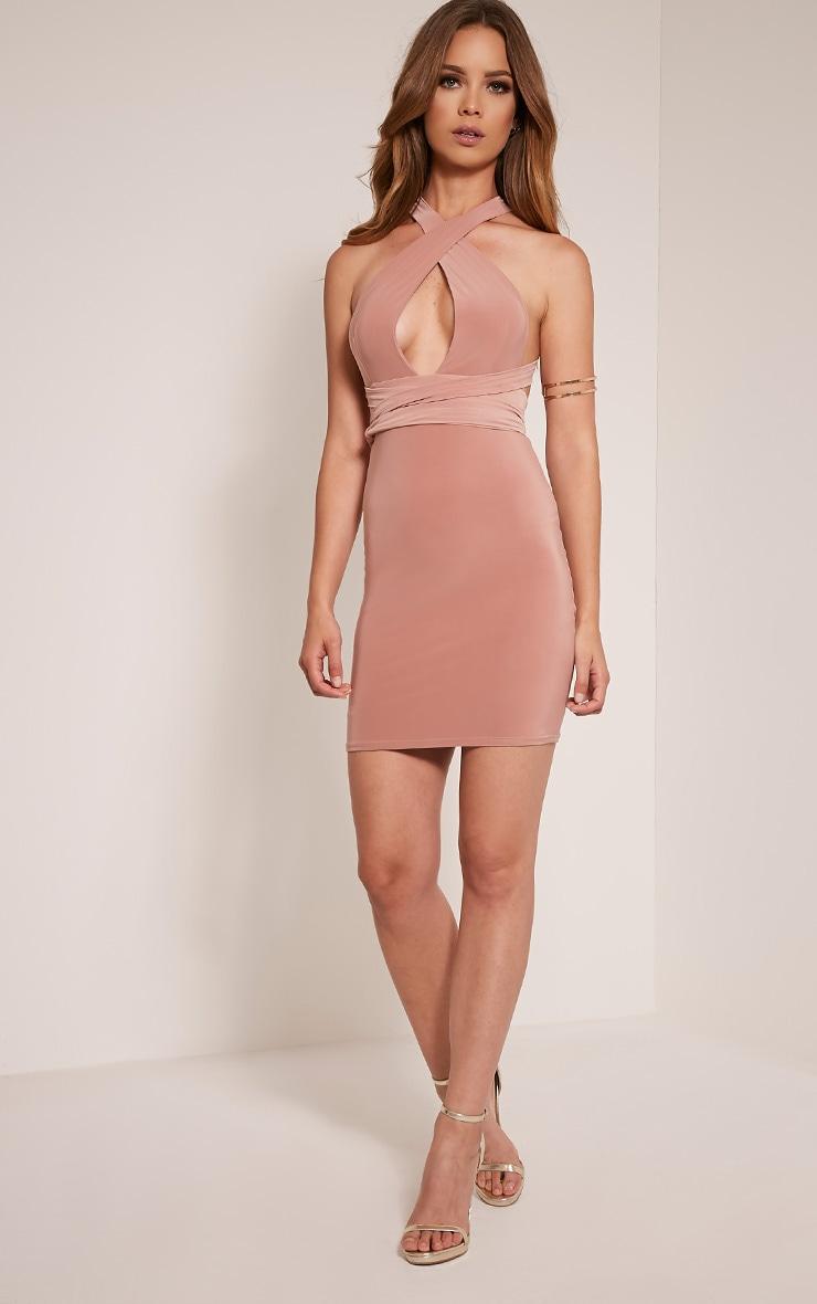 Lidia Blush Multiway Bodycon Dress 2
