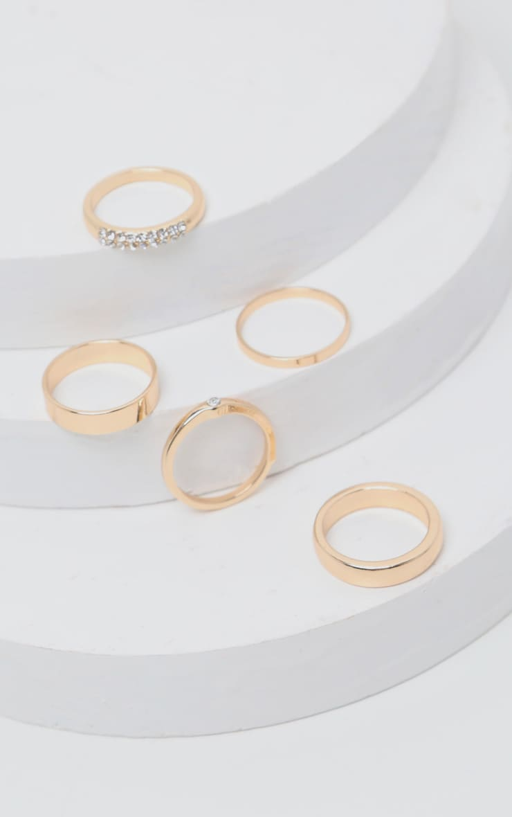 Gold Multi Assorted Pack Rings 2