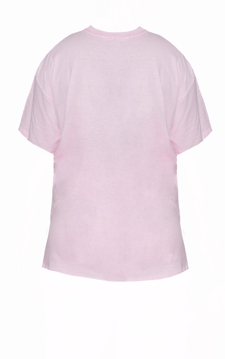 Plus Ultimate Light Pink Oversized T Shirt 5