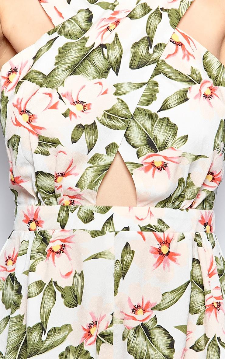 Ruby Cream Floral Print Playsuit 5