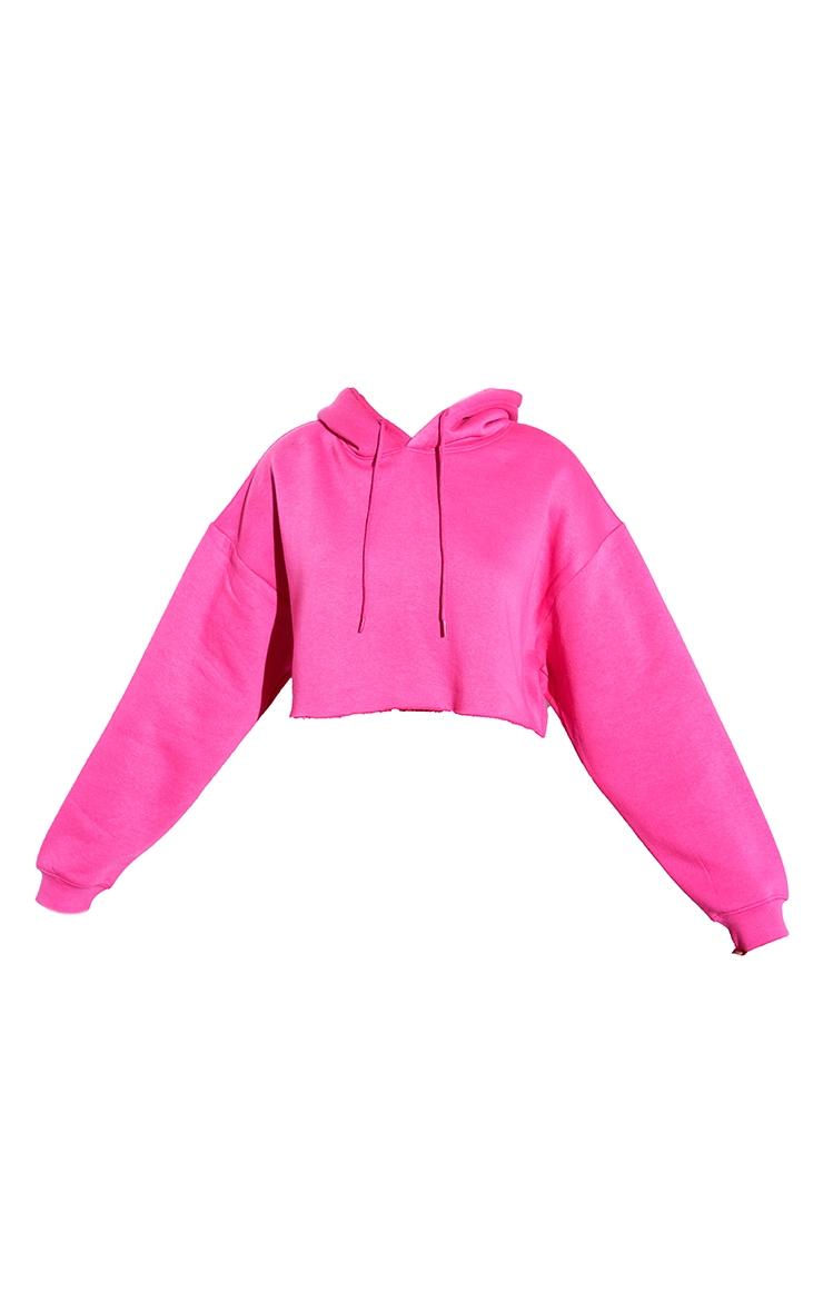 RENEW Pink Oversized Crop Hoodie 5