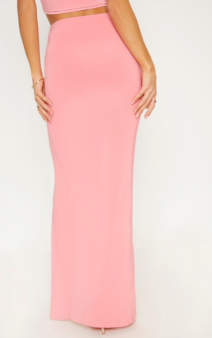 Coral Slinky Split Midaxi Skirt 4