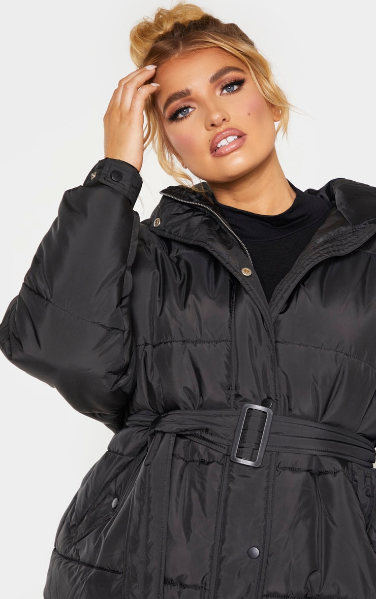 Plus Black Belted Puffer 6