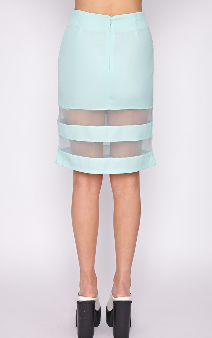 Dakota Mint Mesh Insert Skirt  2