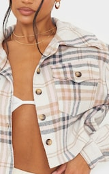Pink Checked Cropped Shacket 4