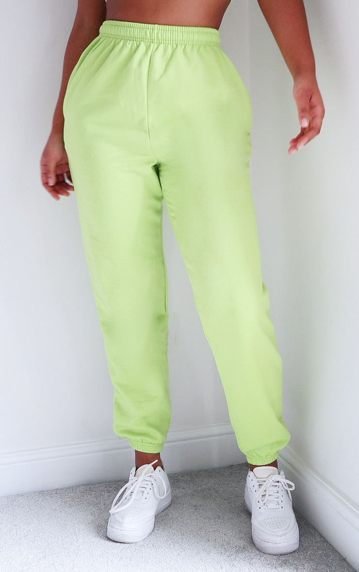Bright Green Casual Joggers 2