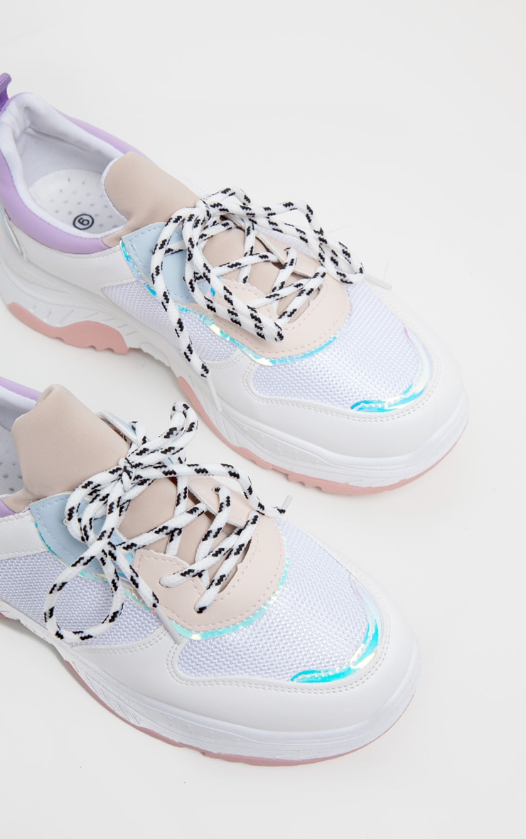 Lilac Pastel Chunky Trainer 3