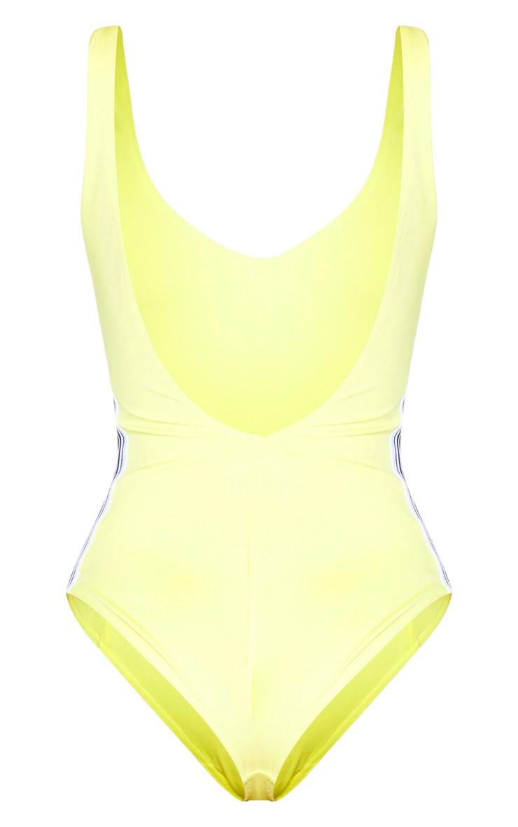 Yellow Zip Front Swimsuit 6