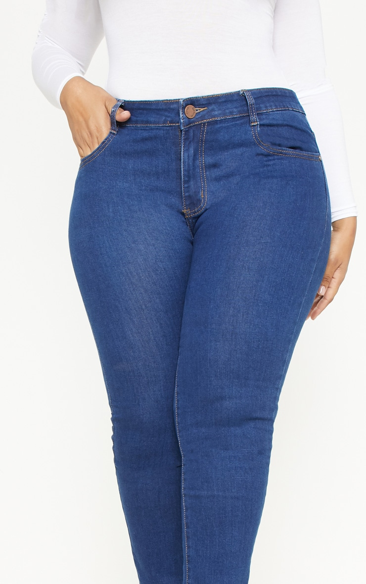 Plus Mid Wash Rise Skinny Jean  5