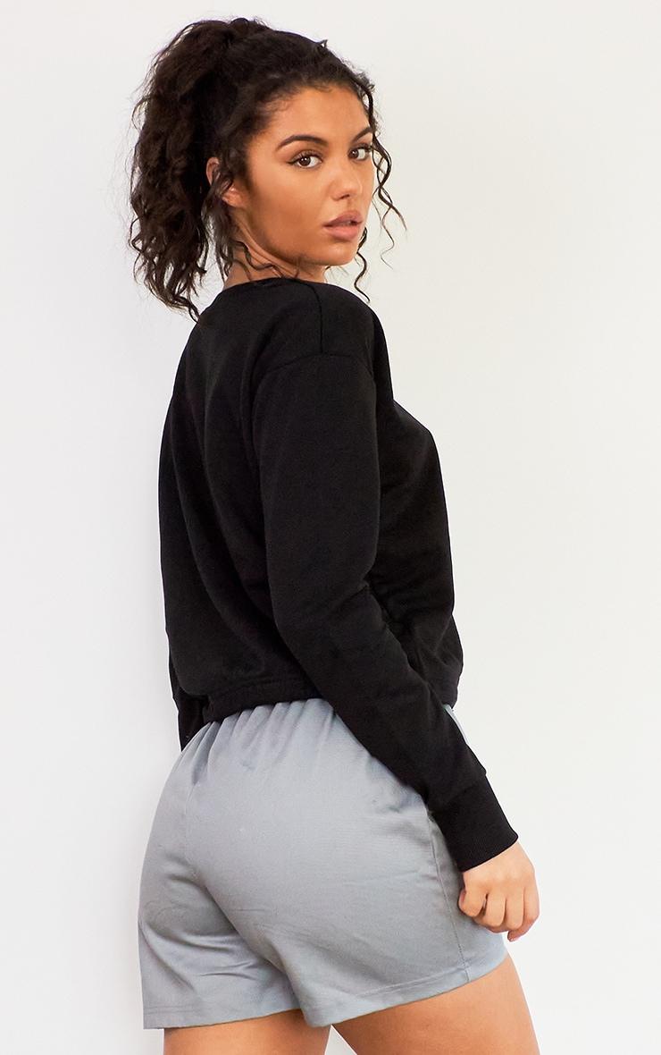 Black Toggle Waist Sweater 2