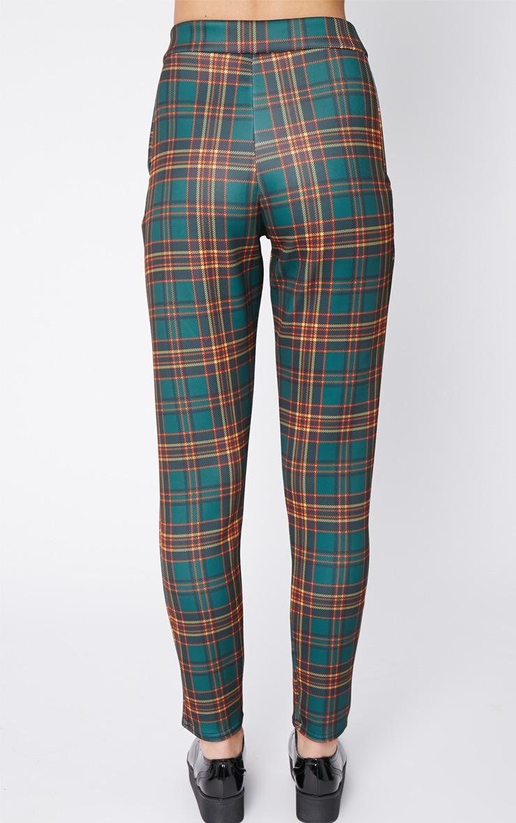 Maia Green Tartan Trouser 4