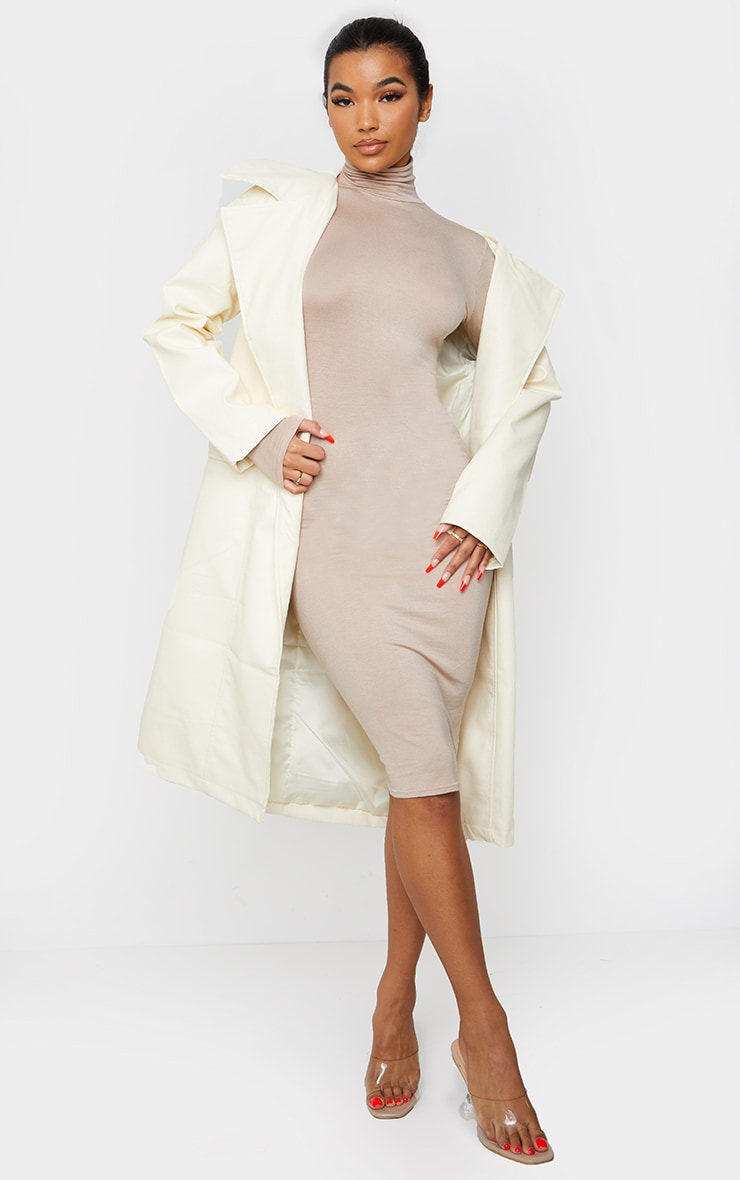 Stone Basic Roll Neck Midi Dress 1