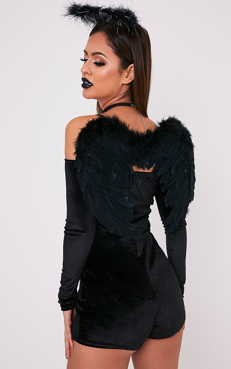 Black Feather Angel Wings 1