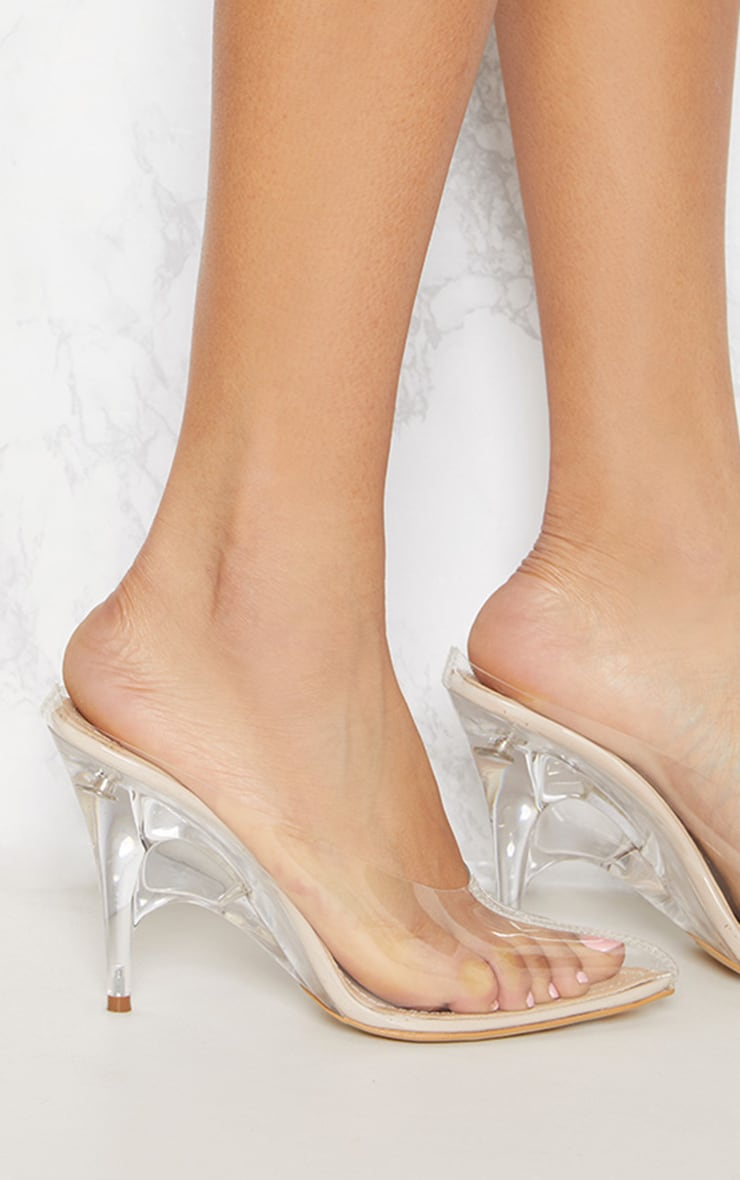 Clear Heeled Mules 5