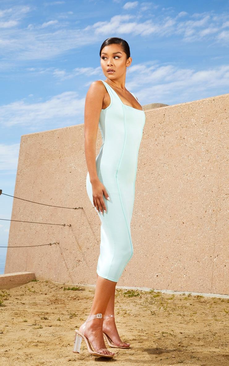 Aqua Second Skin Square Neck Binding Detail Midaxi Dress 4