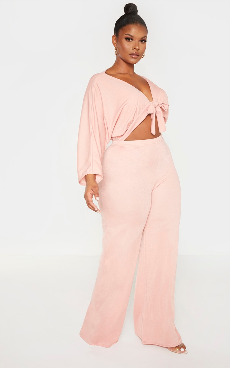 Plus Mauve Crepe Batwing Cut Out Jumpsuit 4