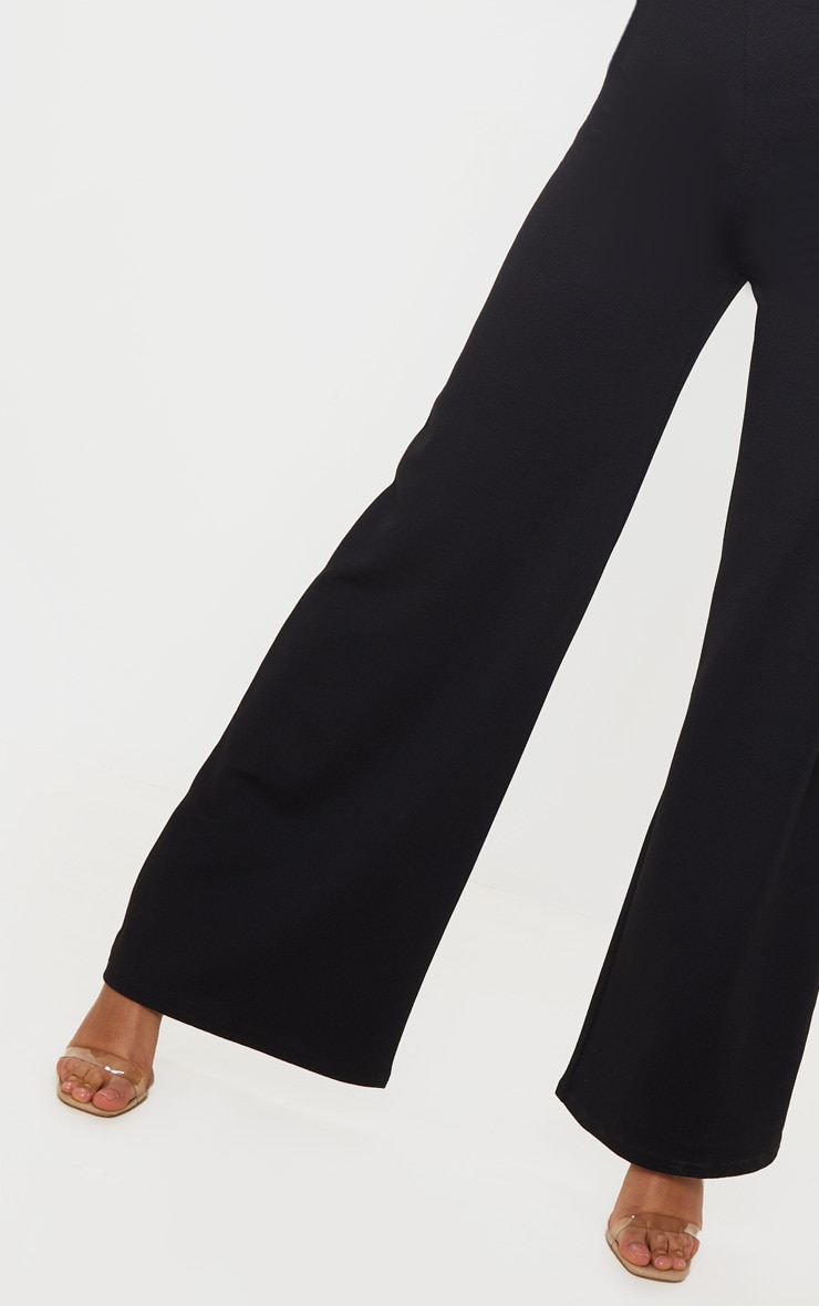 Black High Waisted Wide Leg Pant 4