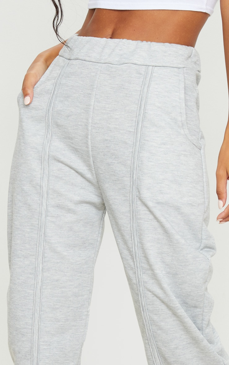 Grey Seam Detail Joggers 5